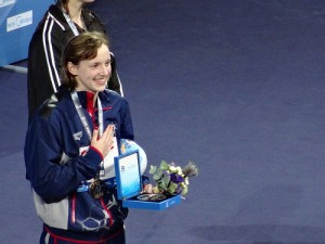 """Katie Ledecky is """"The Next Big Thing"""" as an American long-distance swimmer."""