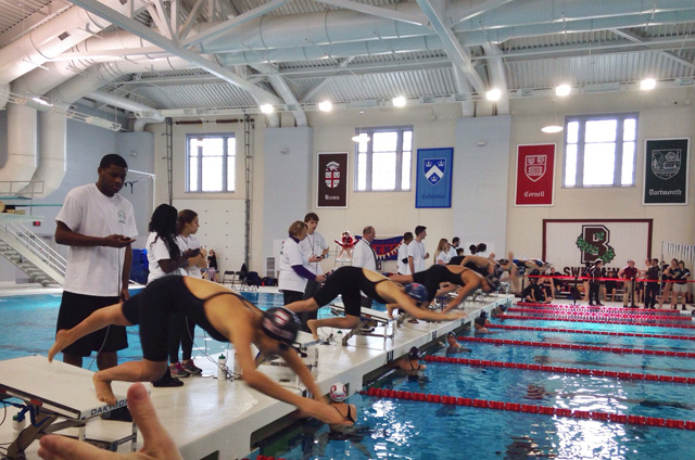 Princeton has early lead at ivy league women s swimming - Princeton university swimming pool ...