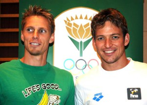 Two legends of South African swimming : Roland Schoeman and Gerhard Zandberg