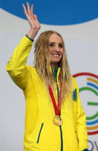 Taylor McKeown with her gold medal. Picture: Adam Head (News Corp Australia)
