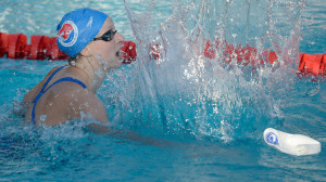 Katie Ledecky celebrates her win and world record time in the Women's 400 Meter Freestyle Final during the 2014 Phillips 66 National Championships. (Getty Images)