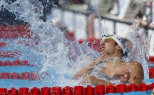 South Africa's 2012 London Olympic Games champion Chad le Clos is expected to put in a powerful display at Victoria Park. (Xinhua)