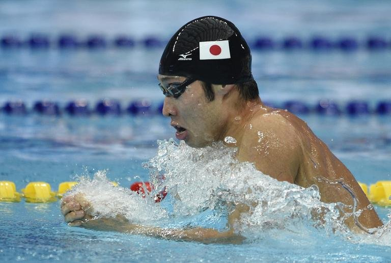 Japan's Kosuke Hagino competes in the 200m individual medley heats at the Asian Games in Incheon on September 22, 2014 (AFP)