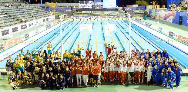 Night 2 of the elite pool competition at the BHP Billiton Aquatic Super Series (Swimming Australia)