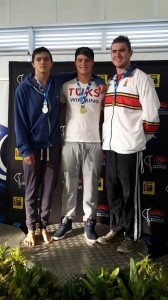 Kyle van Niekerk, Josh Steyn, Armand Maritz on the podium for 100 free (Facebook)