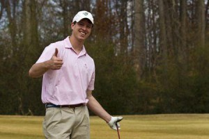 An undated handout family photo shows Witner Milner giving a thumbs up at a golf course. Milner, 25, died in the family's backyard pool in Atlanta in 2011 while breath holding to train for spear fishing.(Reuters)