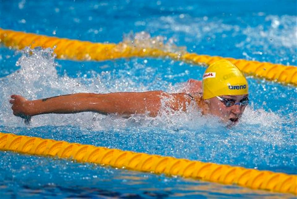 Sweden's gold medal winner Sarah Sjostrom competes to set a new World Record in the women's 100m butterfly final at the Swimming World Championships in Kazan, Russia, Monday, Aug. 3, 2015. Sergei Grits AP Photo Read more here: http://www.thenewstribune.com/sports/article29849335.html#storylink=cpy
