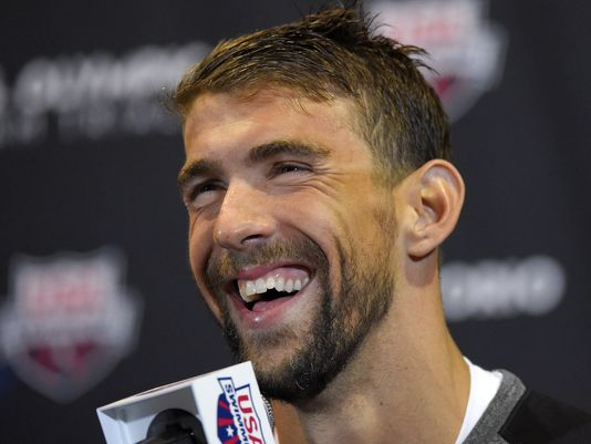 Michael Phelps speaks during a news conference at the U.S. Olympic swimming trials, Saturday, June 25, 2016, in Omaha, Neb.(Photo: Mark J. Terrill, AP)