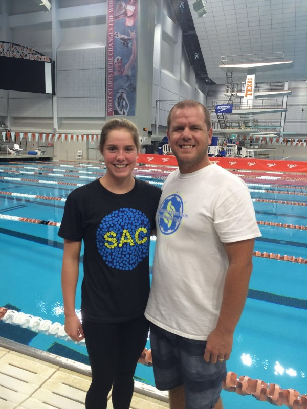 Taneal Baptiste with John Ferguson, her coach at the Arizona State University in America. (supplied)
