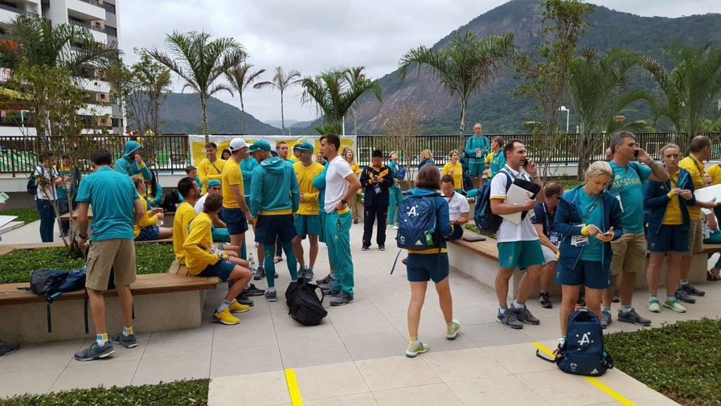 Australian athletes have been evacuated from their apartment in the Athletes Village due to a fire ©Twitter