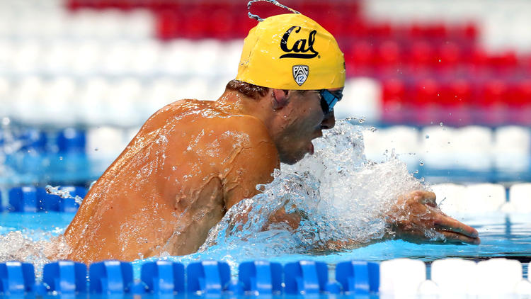 josh prenot nearly set a world record during the 200 meter breaststroke on thursday - Olympic Swimming Breaststroke