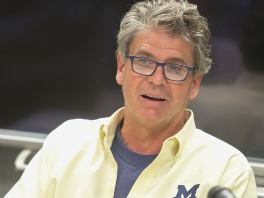Michigan swimming coach Mike Bottom(Photo: Kirthmon F. Dozier DFP)