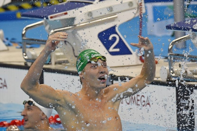 Kevin Paul celebrates after claiming gold in the 100 Breaststroke in Rio (Gallo Images)