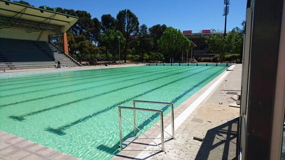 The refurbished Manguang Municipal Swimming Pool : venue for the 12th CANA African Senior Swimming Championships from 16-22 October