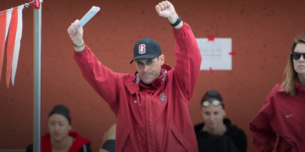 Stanford women's swimming and diving coach Greg Meehan. (Stanford Athletics)