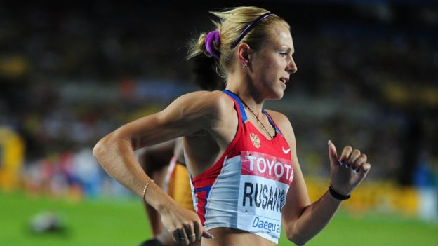 Yuliya Stepanova competed in this year's European Championships in Amsterdam but was banned by the IOC from the Rio Games  (Getty Images)