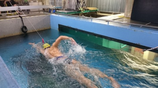 University of Tsukuba-led researchers develop a method for accurately determining drag during front-crawl swimming. (University of Tsukuba)