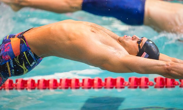 If you have inner demons, swimming's probably not the sport for you': Matt Grevers competes at an Arena Pro Swim Series event. Photograph: Icon Sports Wire/Corbis via Getty Images