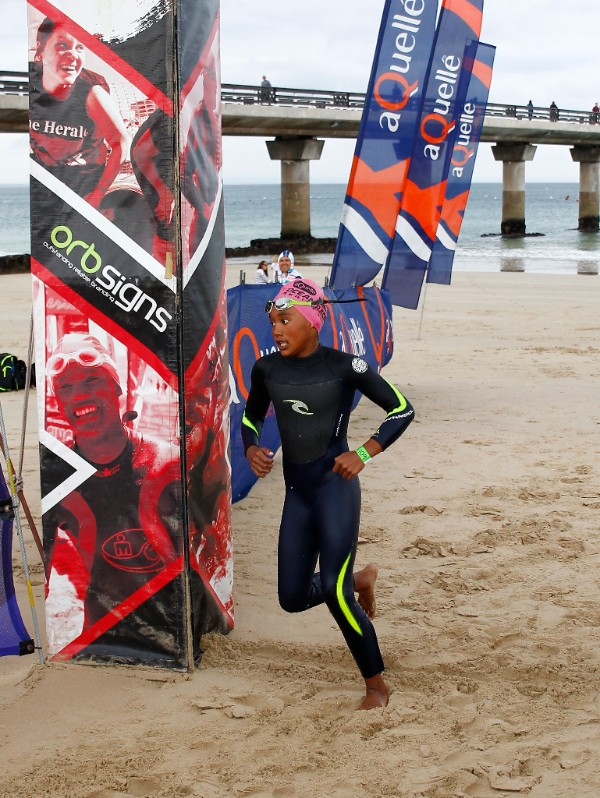 At just 10 years of age, Tiara Finnis of Morningside was one of the finds of the Season, excelling in the 400m Ocean Swim discipline at the aQuellé Ocean Racing Series this season. (Michael Sheehan)