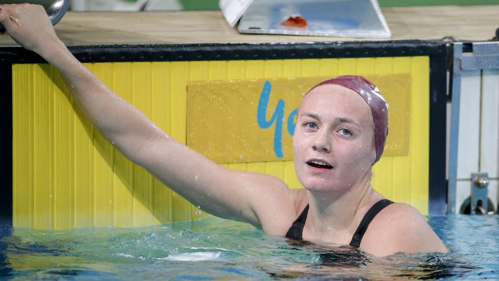 Ariarne Titmus, 16, has qualified for the world championships where she will compete against one of the greatest ever swimmers, American star Katie Ledecky. Picture: AAP/GLENN HUNT