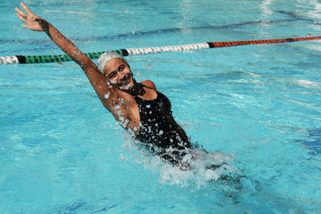 Sonal Reddi won a gold and silver medal at the national synchronised swimming champs.
