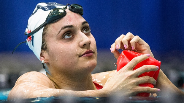 Canada's Kylie Masse will be chasing gold in the women's 100 metres at the world aquatics championships in Budapest, Hungary. Her world-leading time this season of 58.21 seconds is .09 seconds shy of the world record held by Gemma Spofforth of Great Britain. (Kevin Light/CBC Sports/File)
