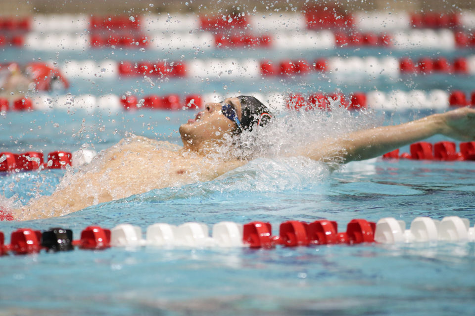 Georgia junior Jay Litherland particpates in the men's 200 yard breastroke event during Georgia's meet against Emory University at the Gabrielsen Natatorium on Saturday, Jan. 28, 2017 in Athens, Ga. (Photo/Thomas Mills)