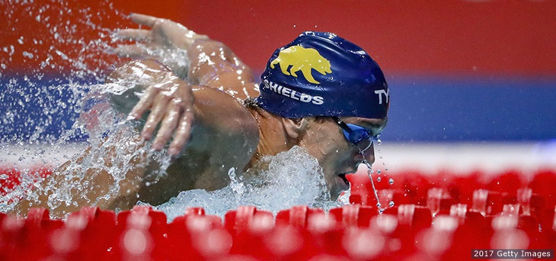 EINDHOVEN, NETHERLANDS - AUGUST 11: Tom Shields from USA competes during the Men's 200m Butterfly heats of the FINA/airweave Swimming World Cup Eindhoven 2017 at Pieter van den Hoogenband Swimming Stadium on August 11, 2017 in Eindhoven, Netherlands.  (Photo by Gonzalo Arroyo Moreno/Getty Images)