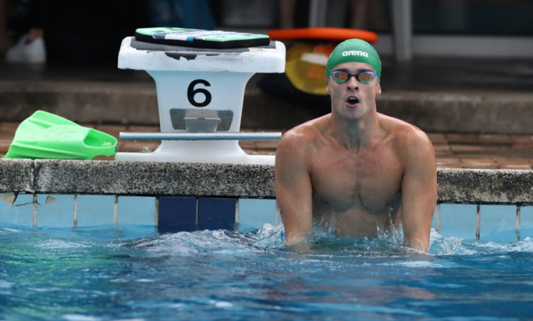 Ayrton Sweeney during day 3 of the 2018 Commonwealth Games Swimming Trials at Kings Park Swimming Pool on December 18, 2017 in Durban, South Africa. Image: Steve Haag/Gallo Images