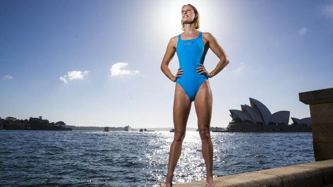 Australian dual Olympian swimmer Bronte Campbell at the launch of the Australian Swims program in Sydney yesterday. Picture: Dylan Robinson