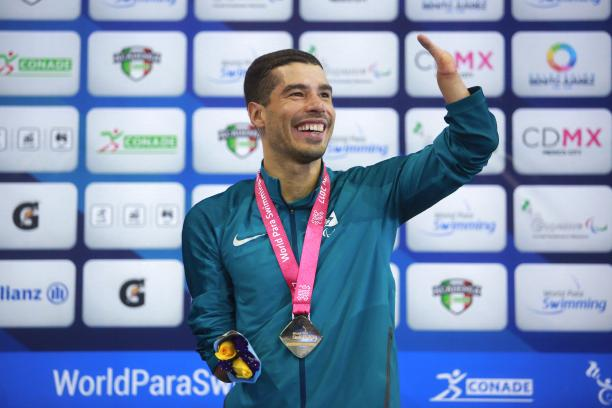 Dias was named Brazil's male athlete of the year while competing at Mexico City 2017 © • Getty Images