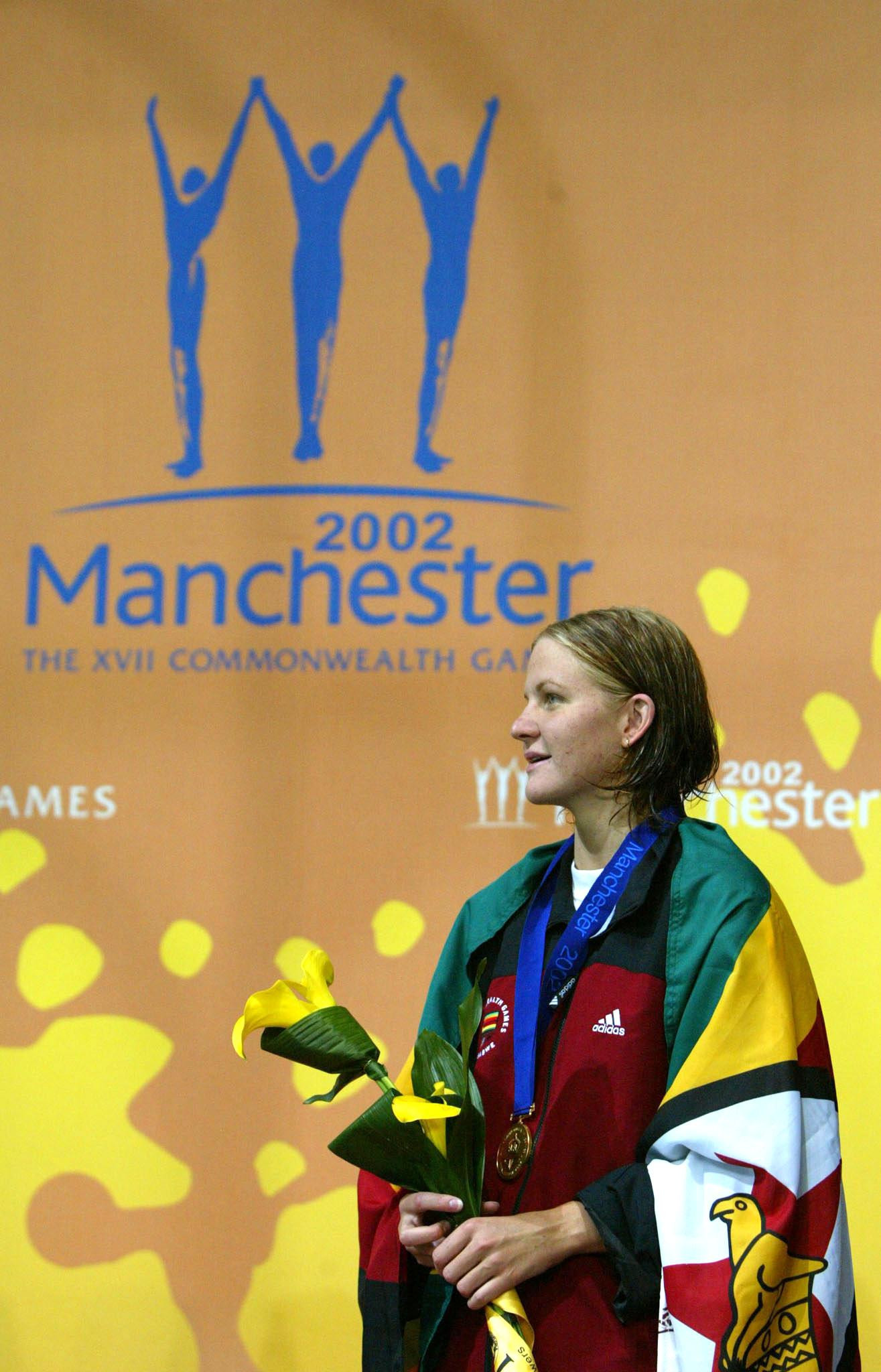 Kirsty Coventry won Zimbabwe's last Commonwealth Games gold medal at Manchester 2002 before the country's membership of the Commonwealth was suspended ©Getty Images