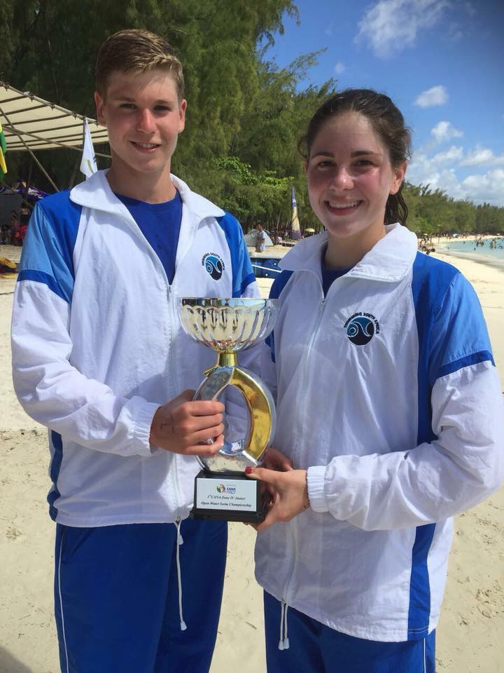 South African team captain's Dante' Nortje and Abi Meder with the Overall Team Winners Trophy - Facebook