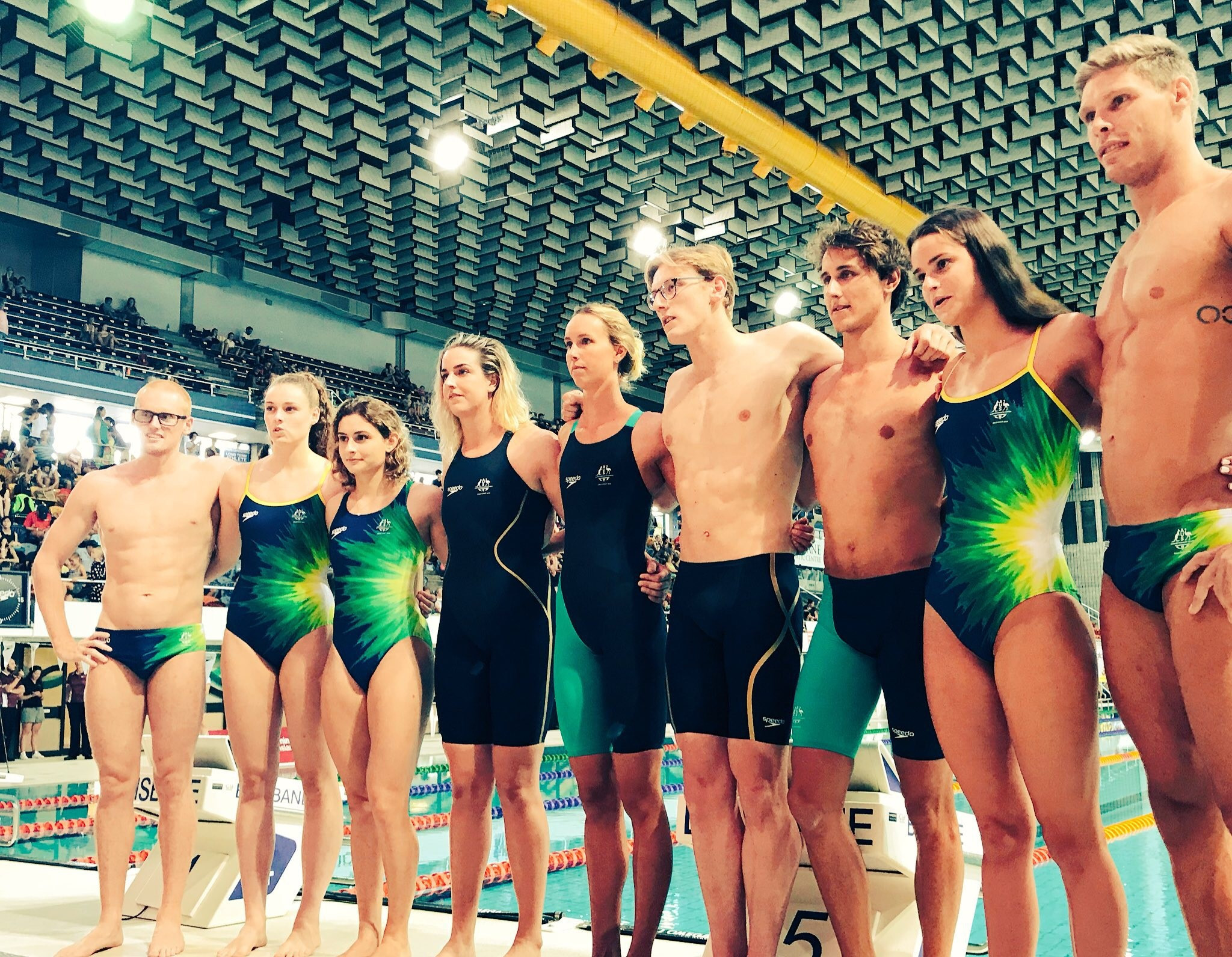 Australia's Speedo swimwear for next year's Commonwealth Games in Gold Coast has been unveiled ©Commonwealth Games Australia