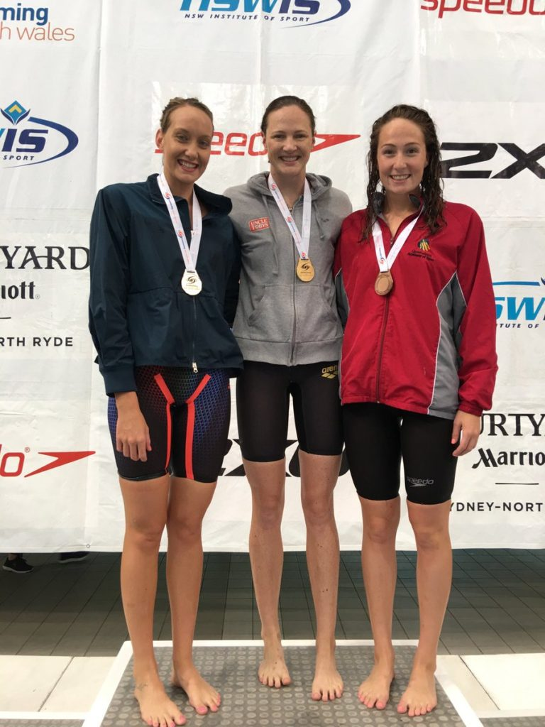 "Two words @catecamp never thought she would see beside her name ""200m freestyle and champion"" but tonight she won the @SwimmingNSW 200m State Championship in 1:58.86 beating @MadiWilson (Griffith University) 1:58.95 and @mikkisheridan (USC Spartans) 1:58.98 #NSWStateChamps2018 (Ian Hanson Media)"