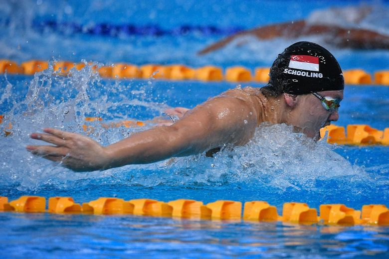 Singapore's Joseph Schooling competing in the men's 100m butterfly final at the SEA Games on Aug 23, 2017. PHOTO: ST FILE