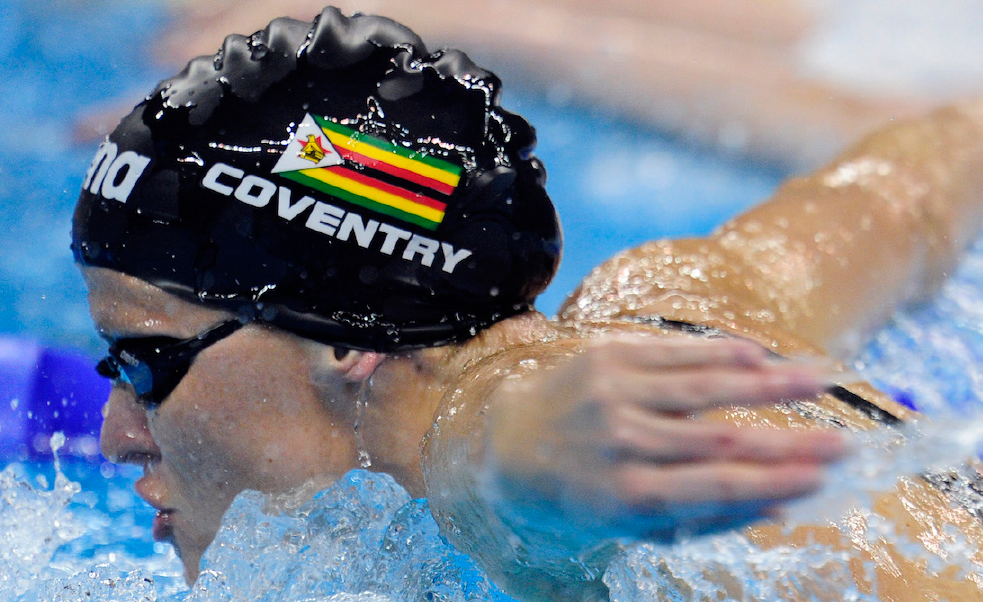 Kirsty Coventry won Zimbabwe's last Commonwealth Games medals at Manchester 2002 ©Getty Images