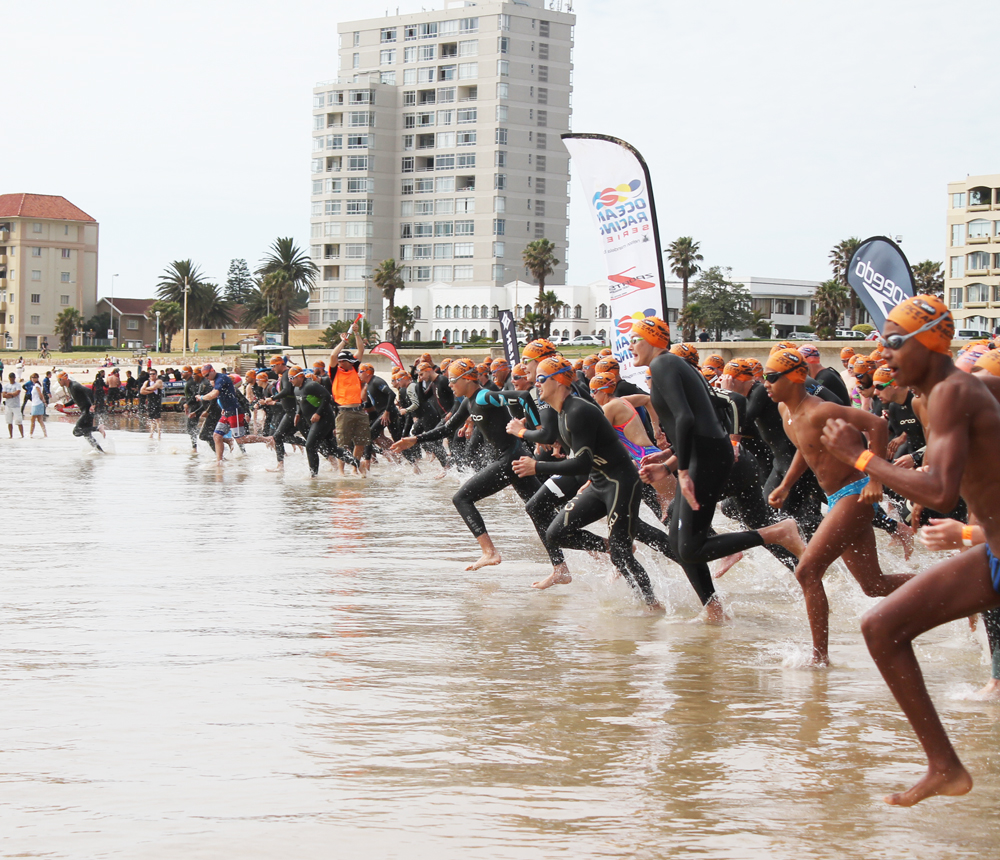 Hundreds of swimmers from around the Eastern Cape will be expected to take part in this weekend's aQuellé Ocean Racing Series at Hobie Beach. (Zsports)
