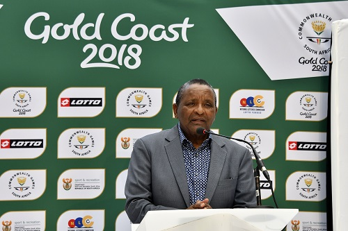 JOHANNESBURG, SOUTH AFRICA - FEBRUARY 27:  Gideon Sam of Sascoc during Team SA kit launch for the 2018 Commonwealth Games at Town Square Mall of Africa on February 27, 2018 in Johannesburg, South Africa. (Photo by Wessel Oosthuizen/Gallo Images)