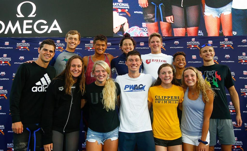 6910b18e5 USA Swimming and TYR are proud to recognize the top performers age 18 and  under in each Olympic event across the 2018 TYR Pro Swim Series as members  of the ...